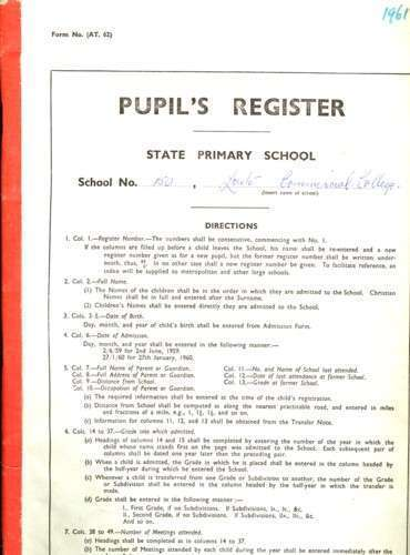 Records Relating to the Loreto Commercial College, South Melbourne