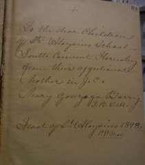 Books belonging to M. Gonzaga Barry