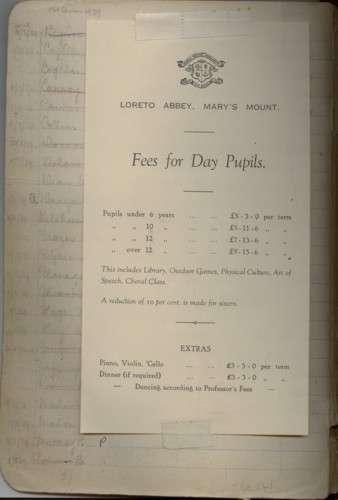 Children's Sundries Accounts, Mary's Mount