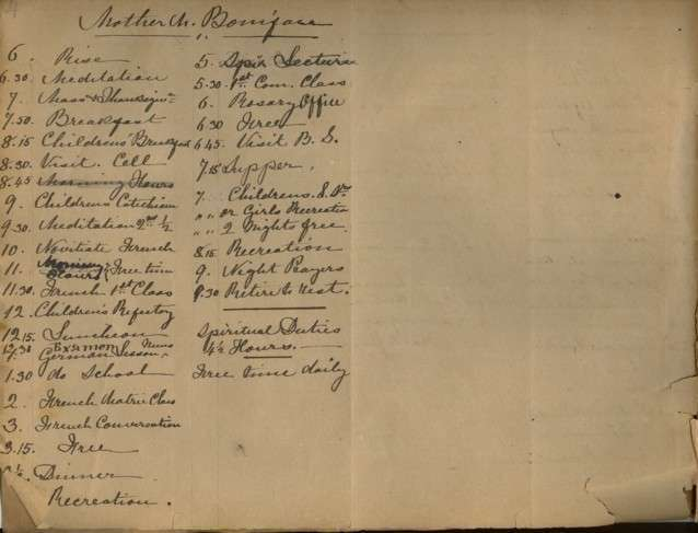 Records Relating to Early Sisters/Pioneers